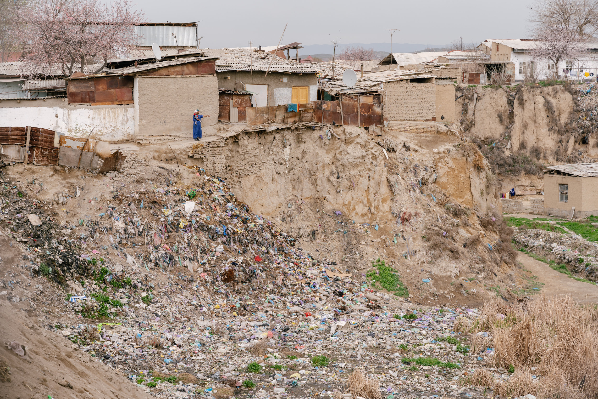Landfill in the poorer part of the city.