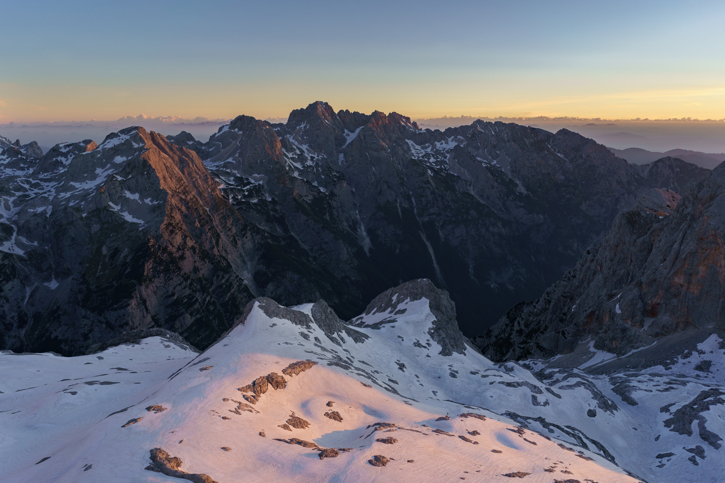 Mountains in the Mt. Škrlatica range.