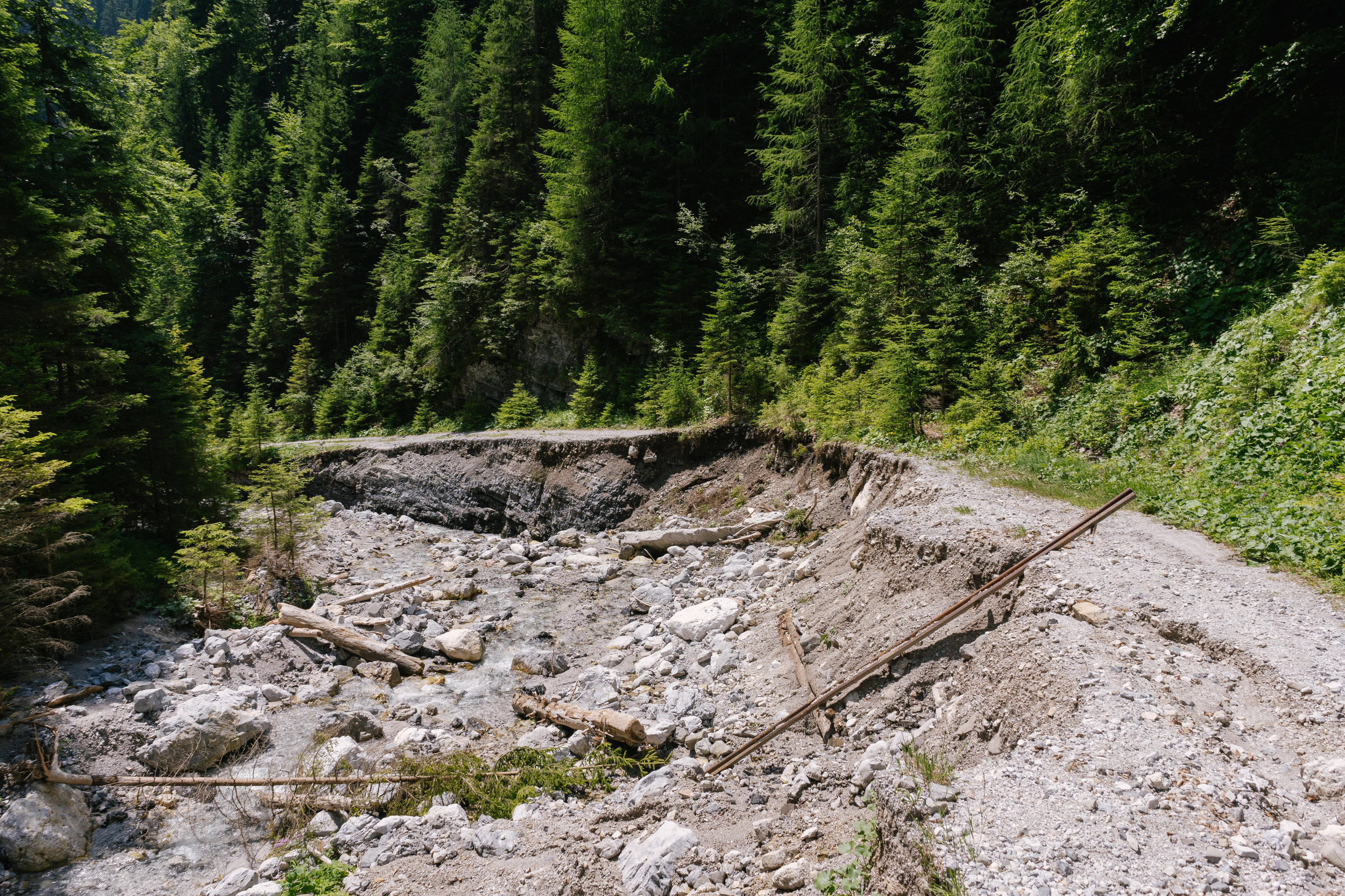There were some heavy storms this year. When there is a lot of water, mountain roads can get demolished.