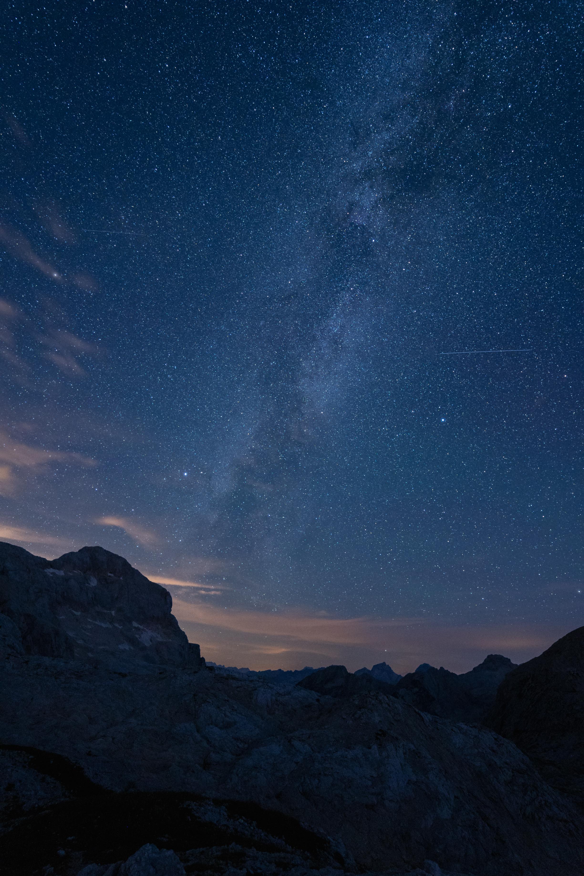 Milky way above Mt. Triglav.