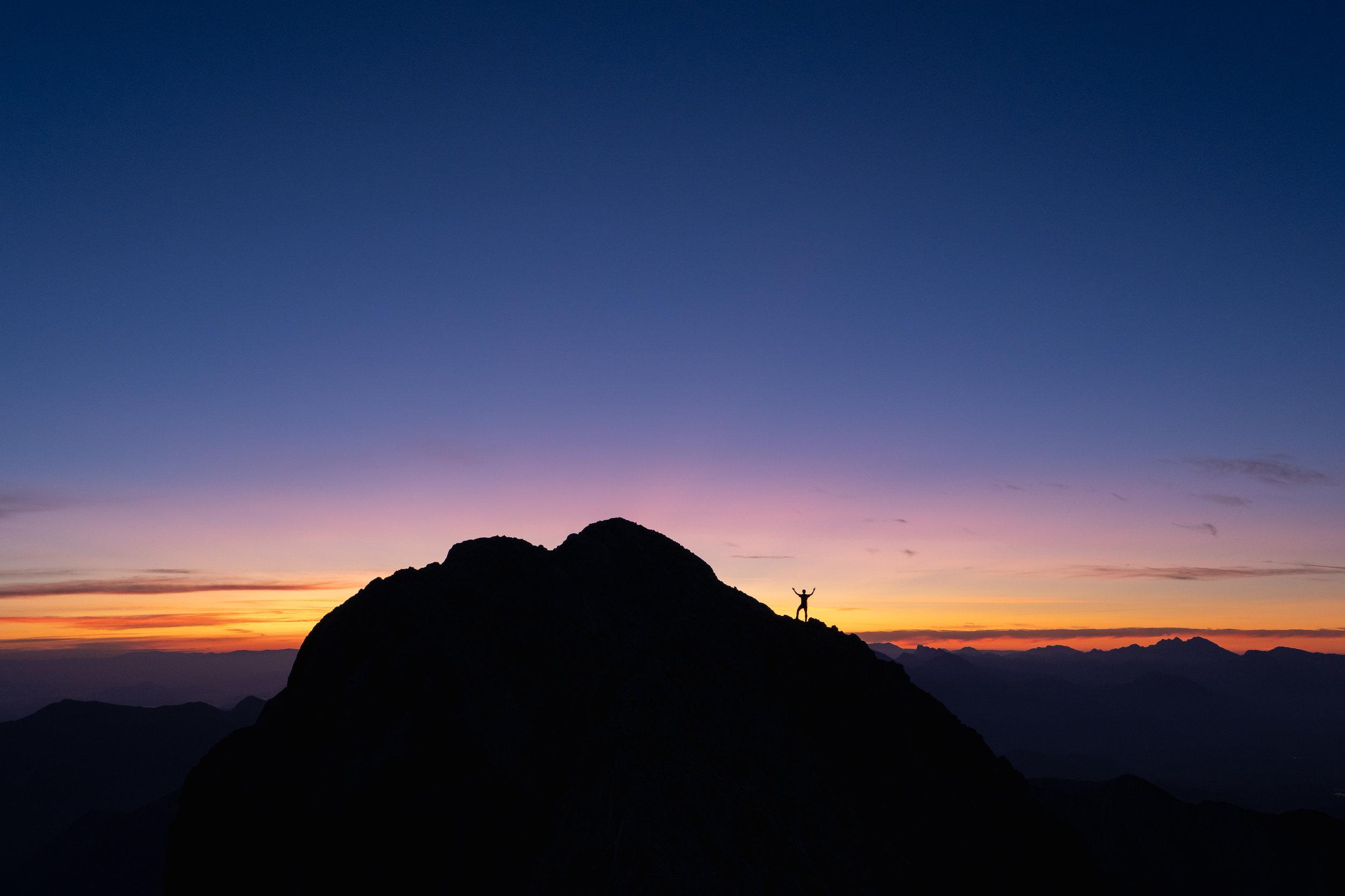 Luka under the summit of Mt. Rjavina.
