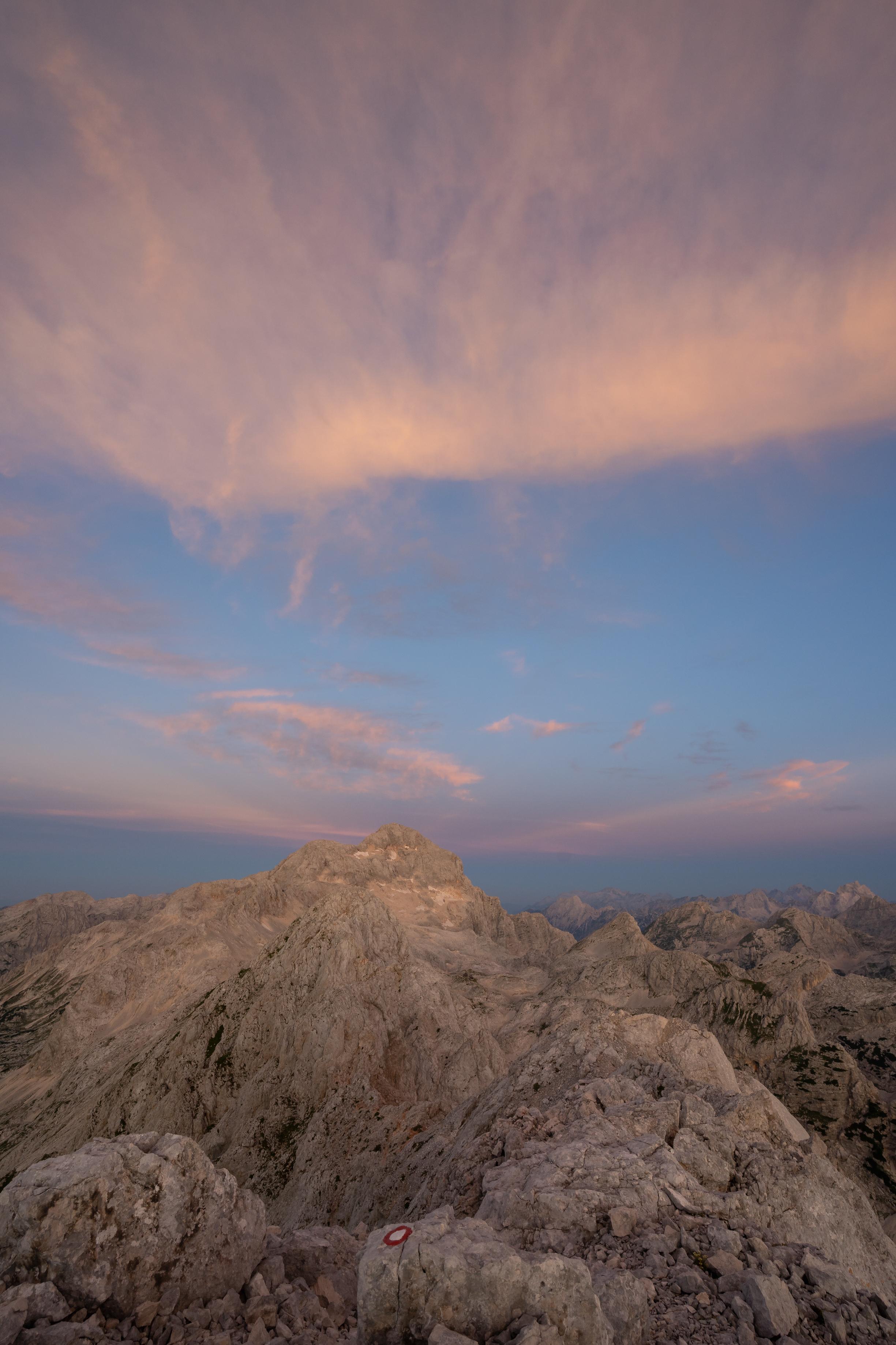 Mt. Triglav from top of Mt. Rjavina.
