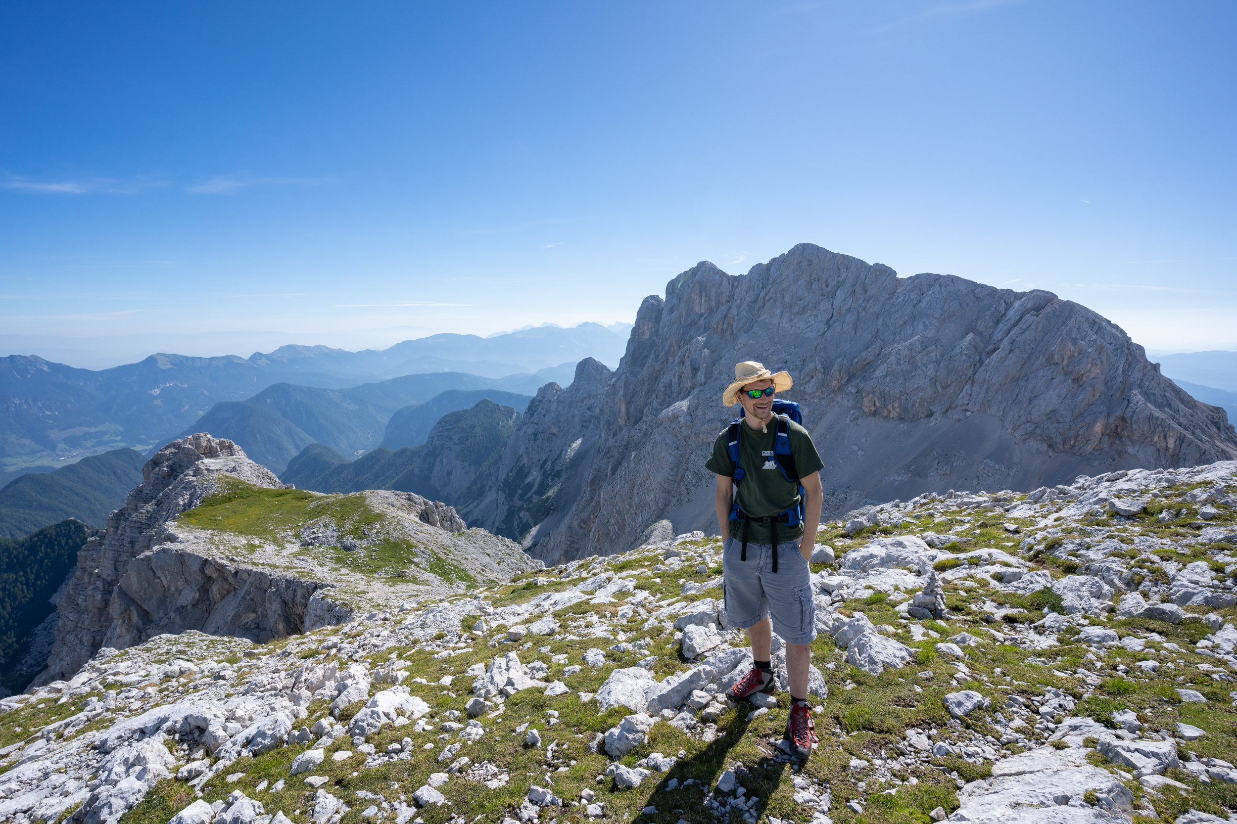 Going down, but not directly. This is the ridge of Mt. Visoka Vrbanova špica.
