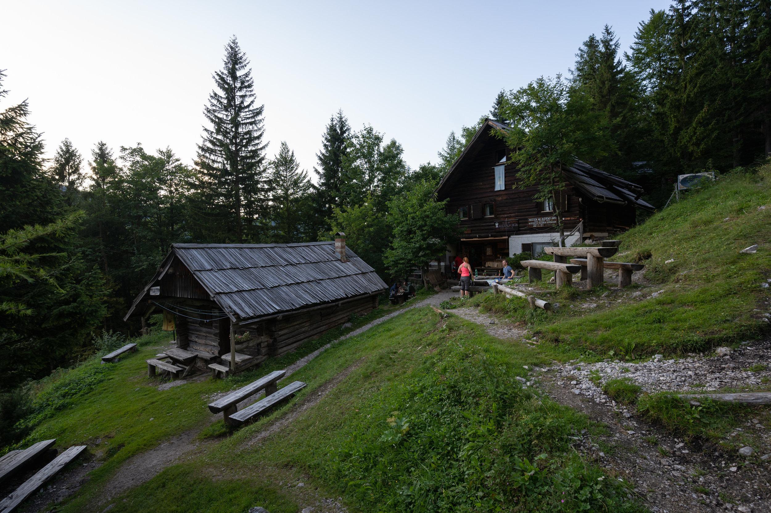 Klemenča jama mountain hut.