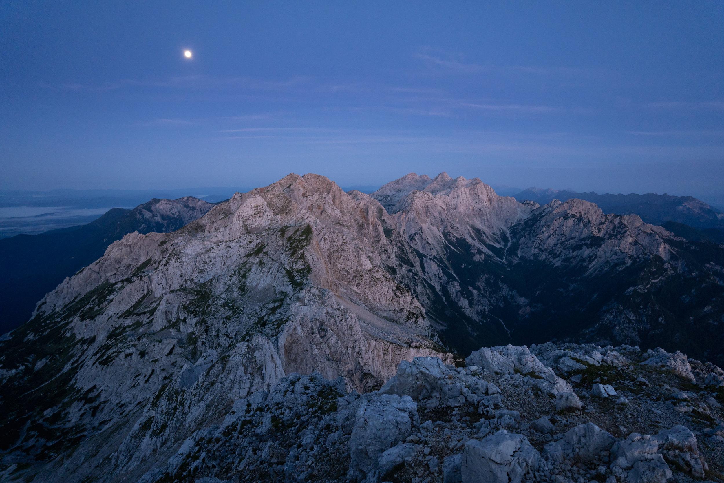 Kamnik-Savinja Alps at dawn.