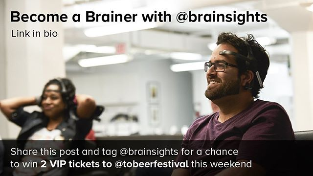 One more reason to be a Brainer: @tobeerfestival tickets! Must follow us to win. Winner announced tomorrow at 1pm. #useyourbrain