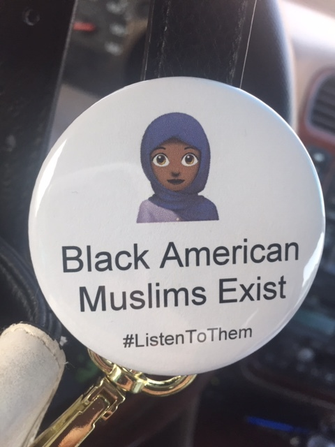 After presenting a lesson in Fatemeh Hosseini's class, one of the students made this pin to symbolize what she learned.