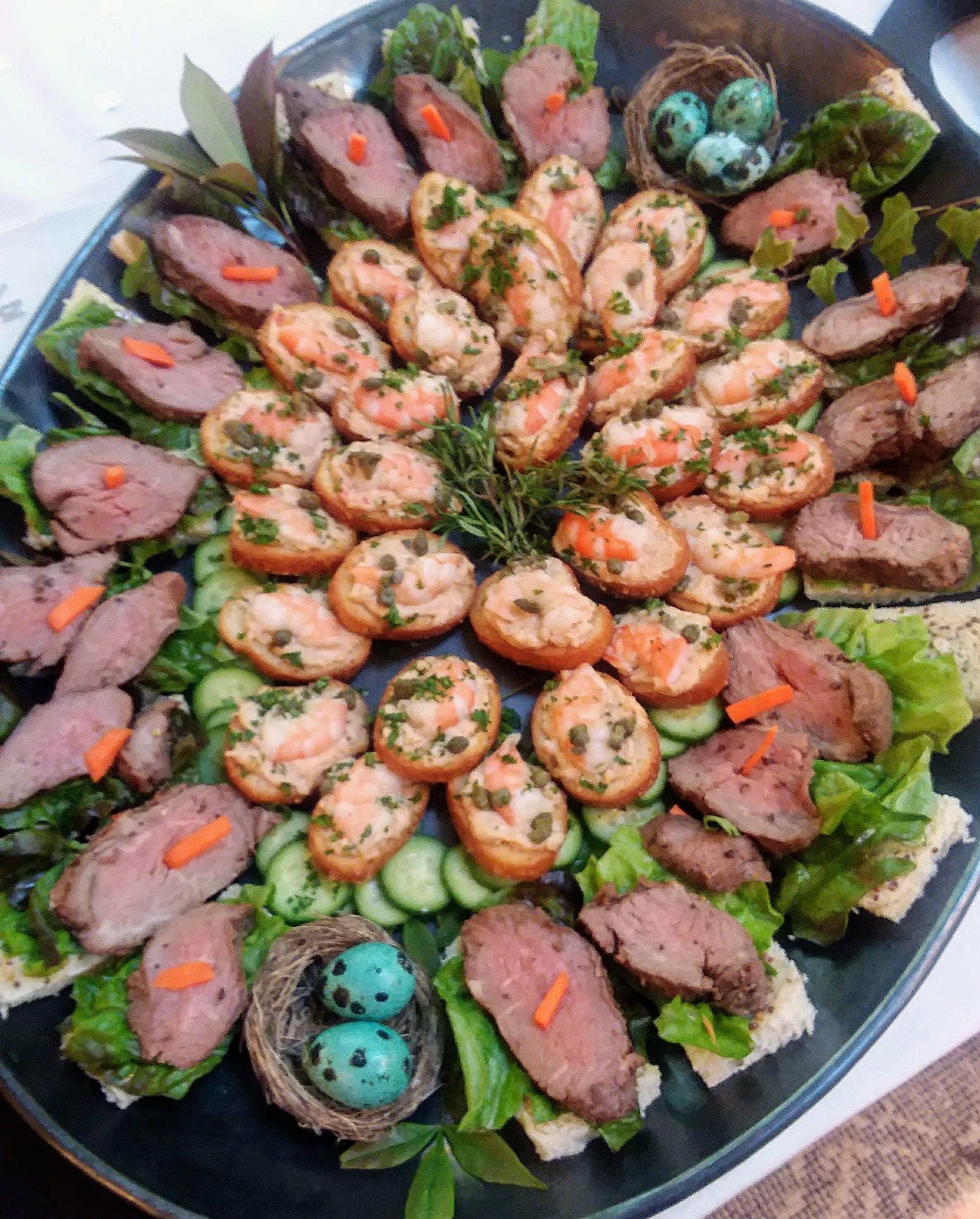 tenderloin platter w blue quail eggs.jpg