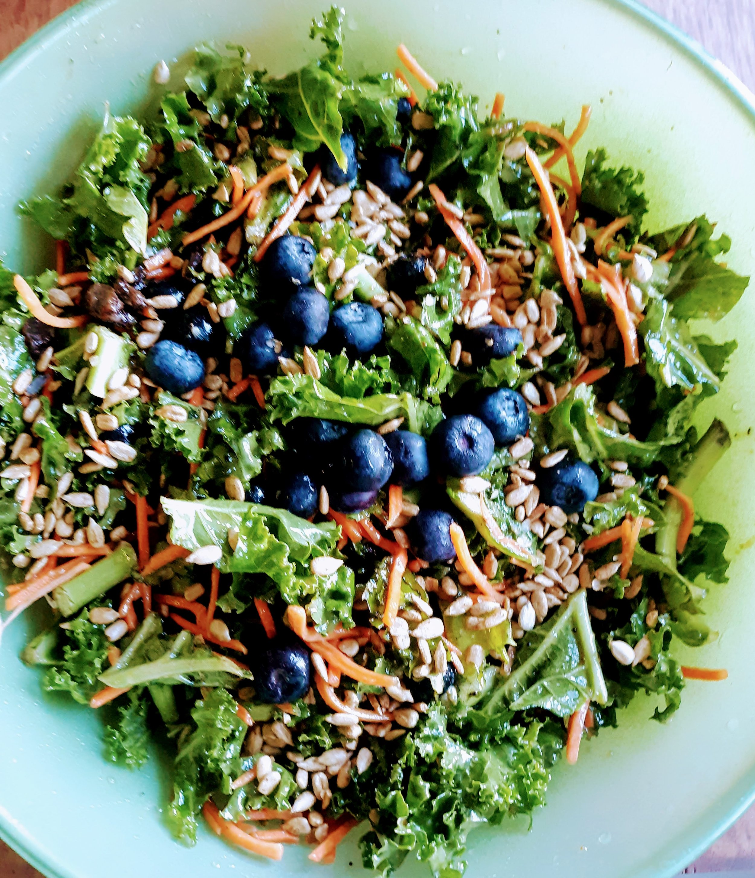 Kale & Blueberry Salad with Poppy Seed Dressing