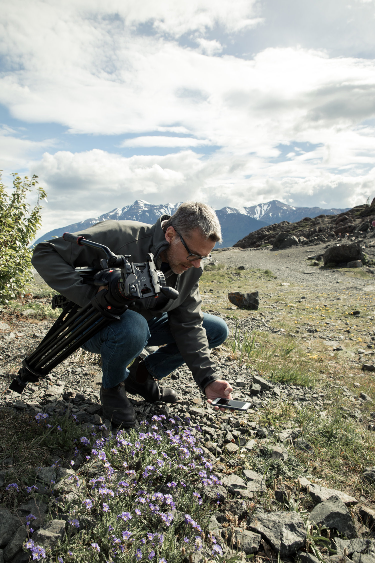 On location near Anchorage, Alaska. Photo: Jafar Fallahi.