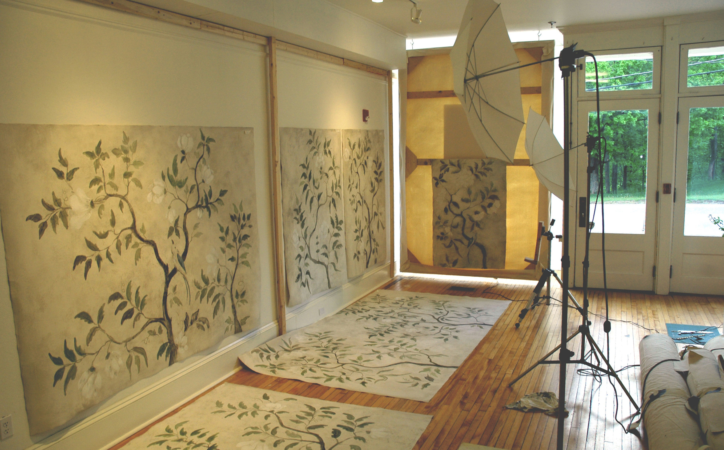 TREE OF LIFE MURAL IN STUDIO
