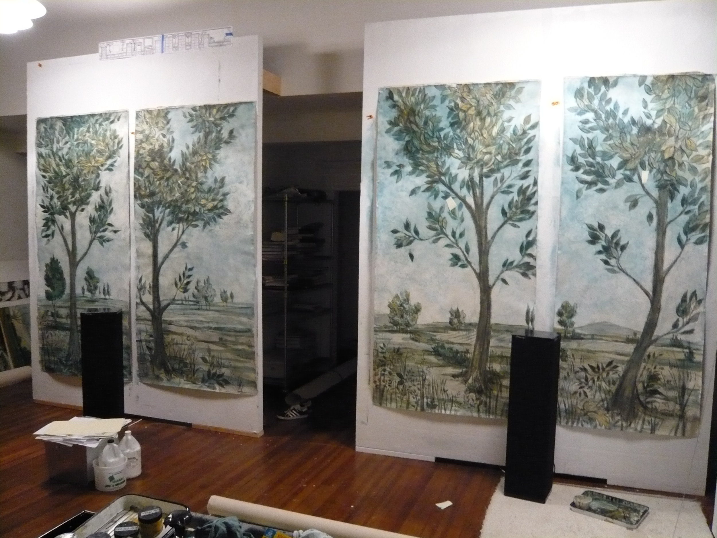 TREE PAINTINGS IN PROCESS