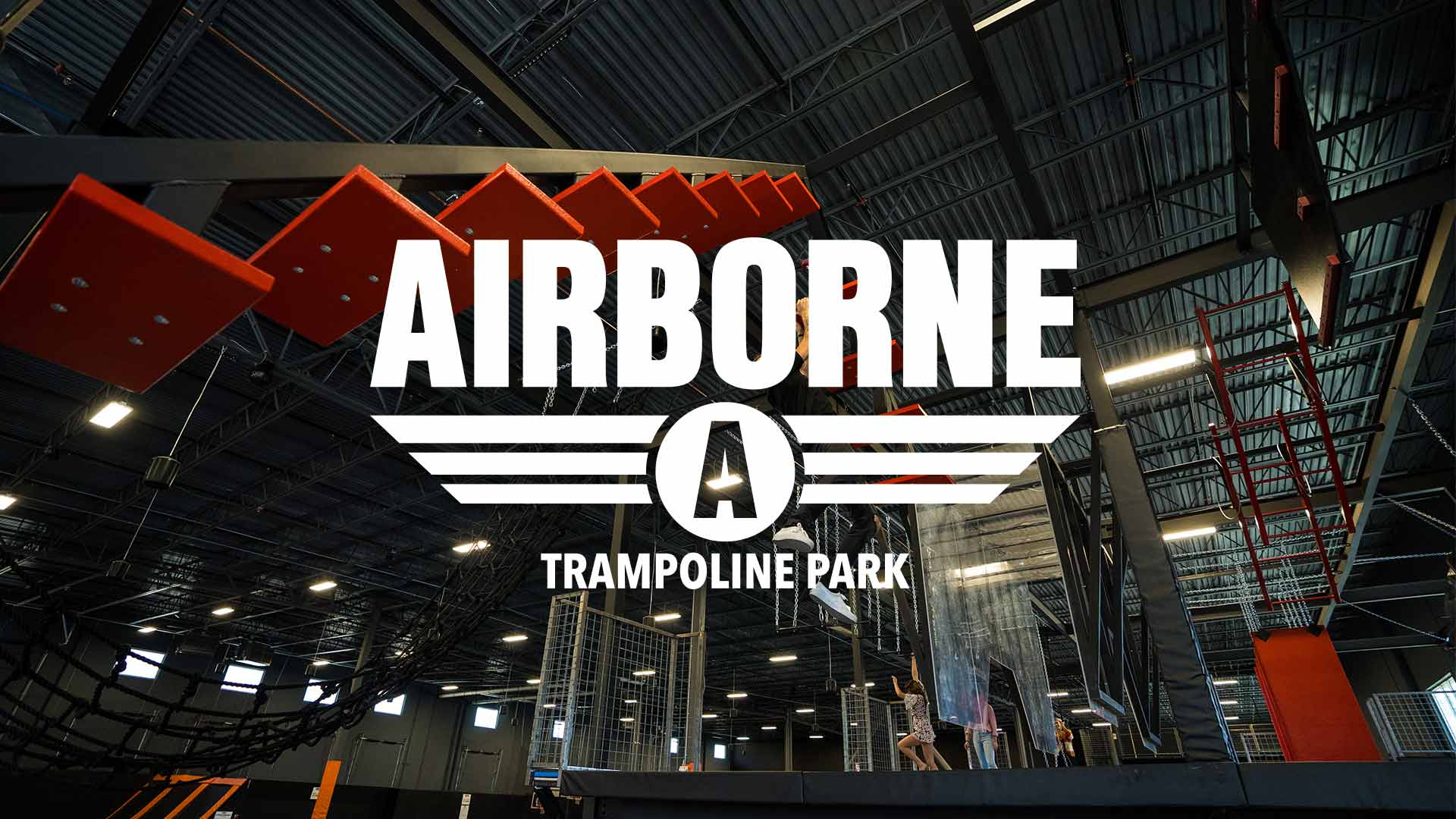 Airborne Trampoline Park - Experience high-flying fun in one of our state of the art facilities. Airborne is fully equipped with a ninja-warrior obstacle course, trapeze, rock climbing wall, cliff jump, Olympic trampolines and of course, wall-to-wall trampolines. Party rooms and the full facility are available for bookings.Learn more at Airbornesports.com
