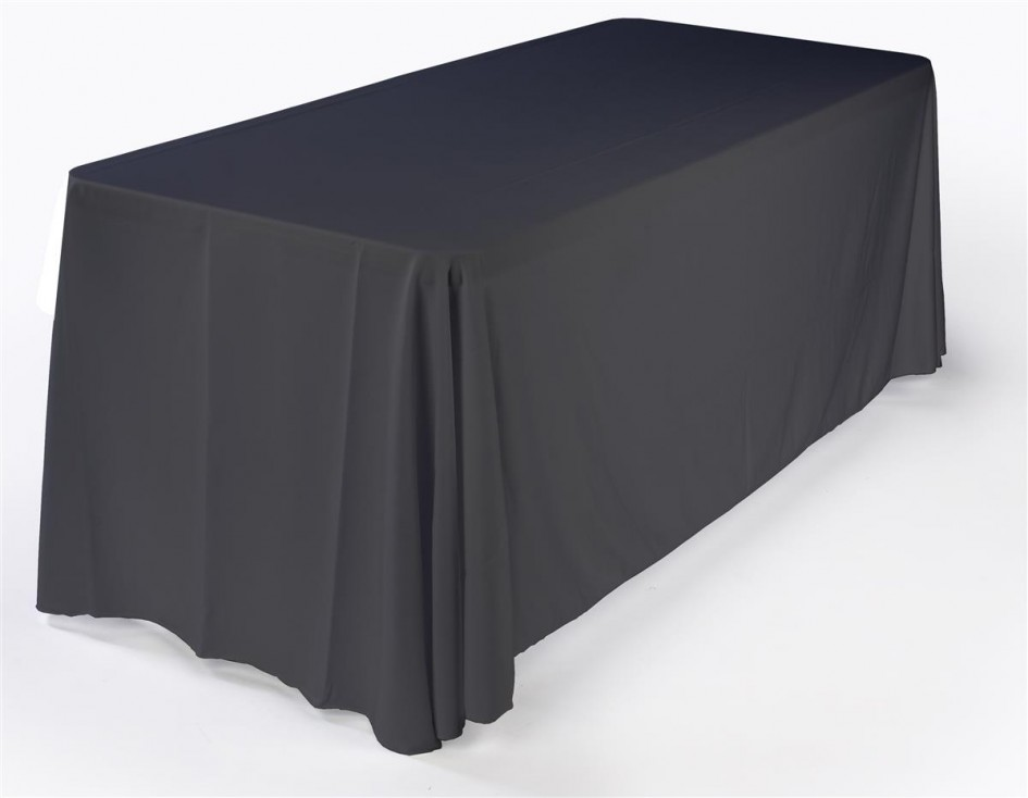 Pleetoox carries custom made tablecloths, table runners, banner stands with custom logos.