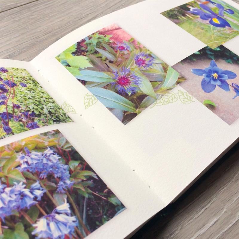 Flowers printed inside customised photo book
