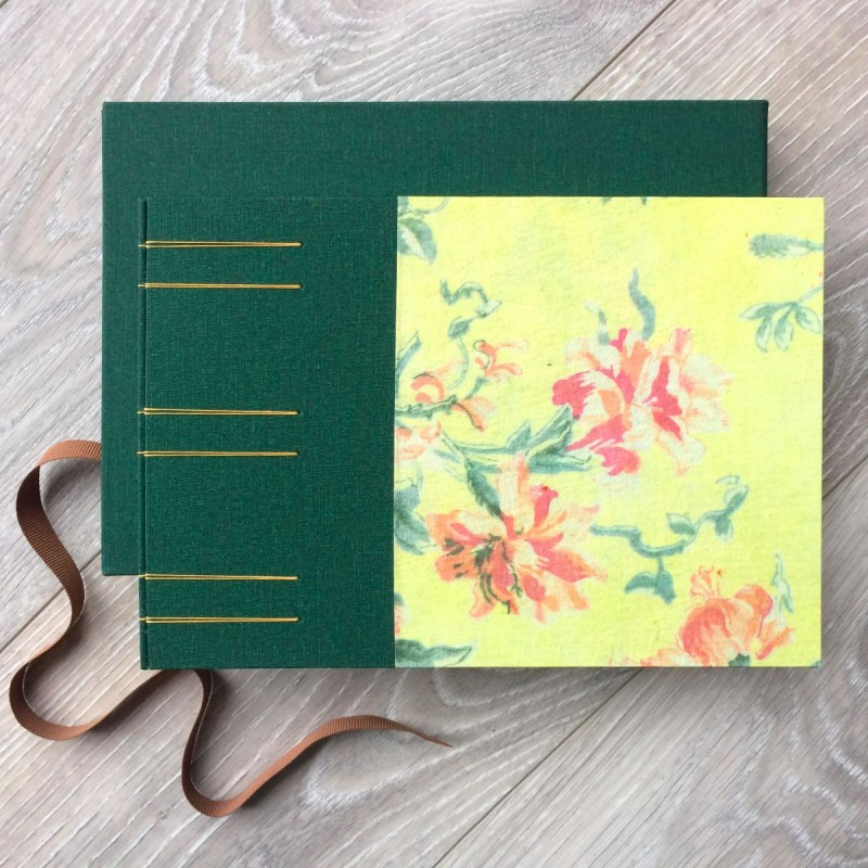 Creative memory book with photographs