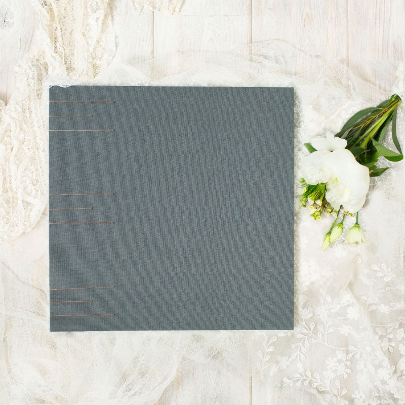 Handmade wedding album with grey cover