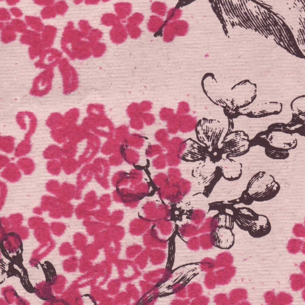 Flocked pink blooms