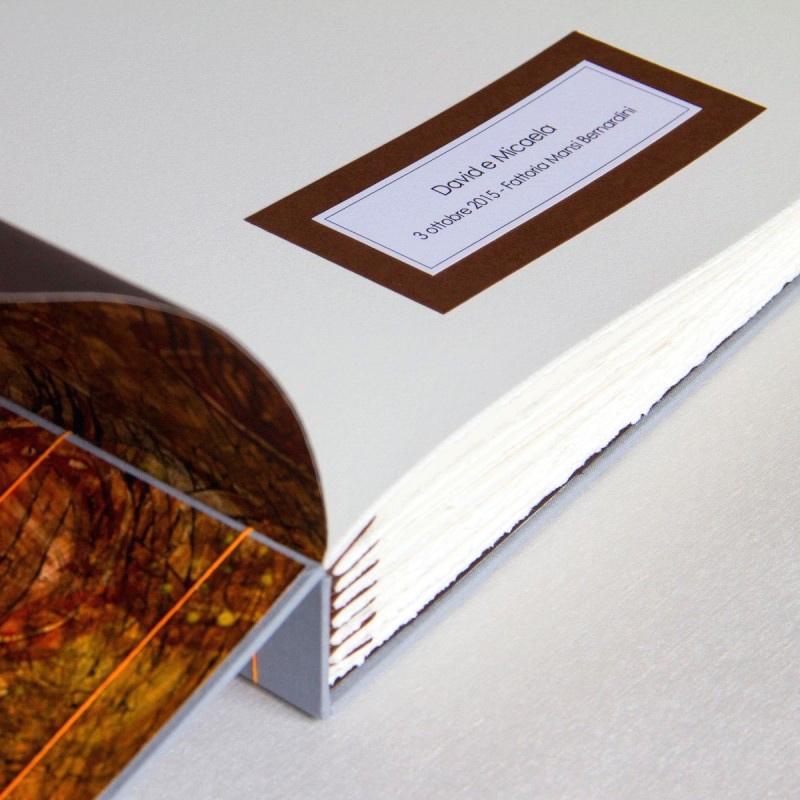 Inscription on first page of handmade wedding album