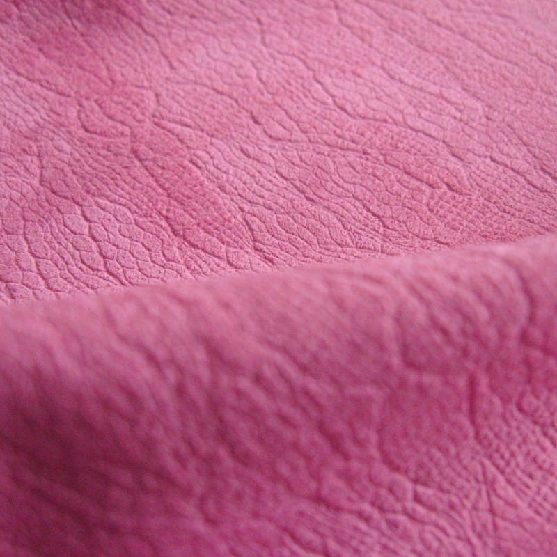 Embossed pink swede inside handmade wedding album
