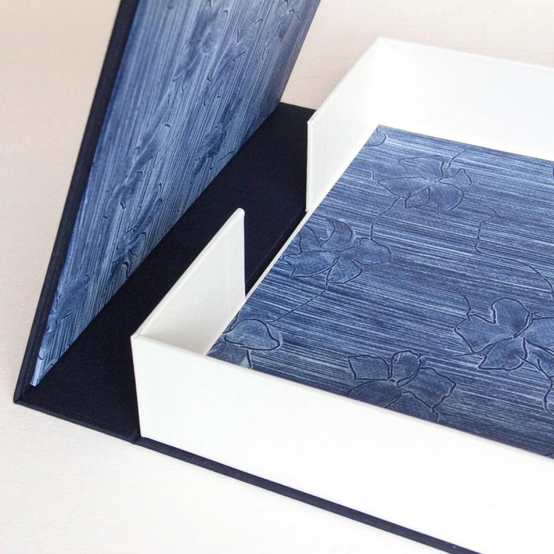 Opening handmade solander box