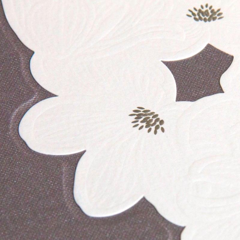 Creative handmade wedding album - wedding invite used on cover