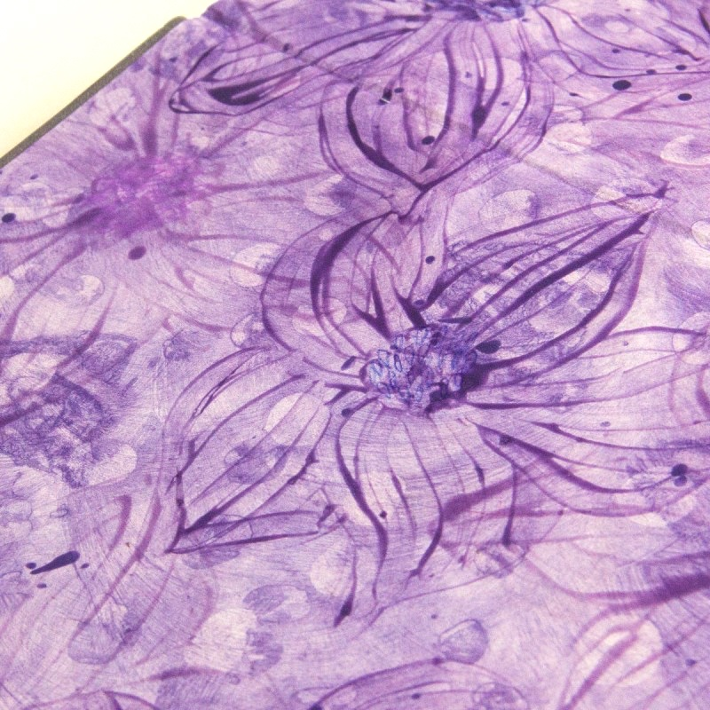 Purple flowers paste paper in creative wedding album