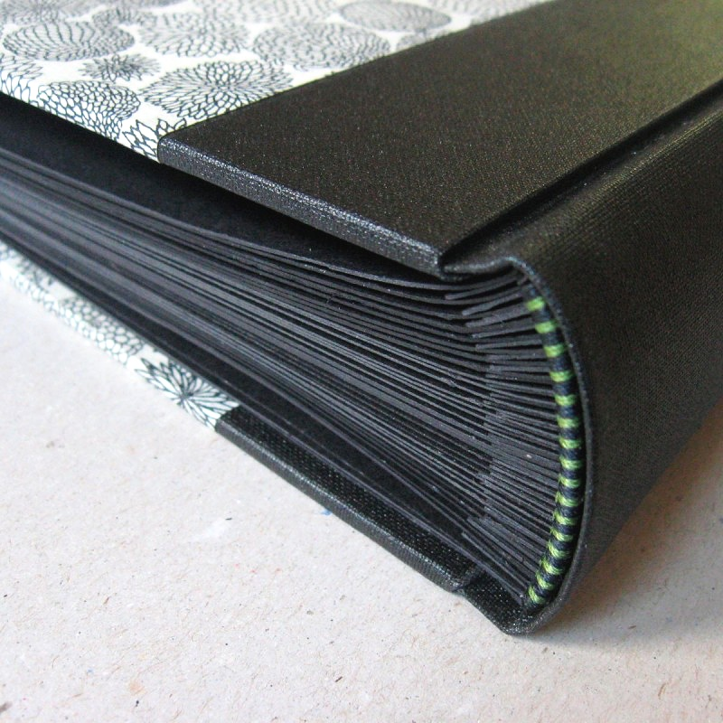 Handmade wedding album with black pages - creative ideas photo book