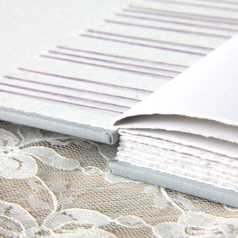 Deckled edges of handmade alternative guest book