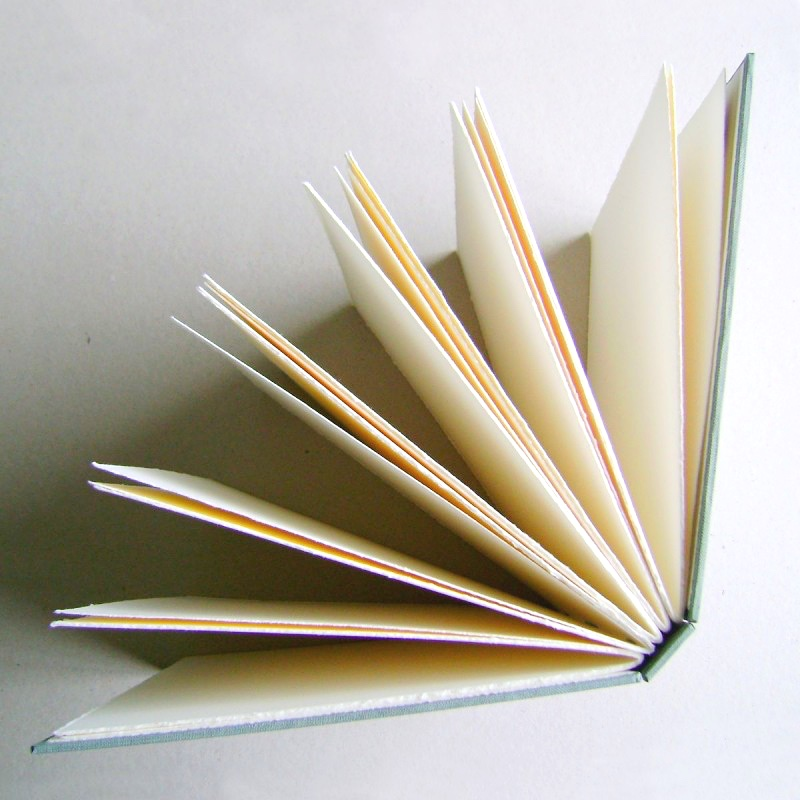 Personalised guest book - book pages fanned out