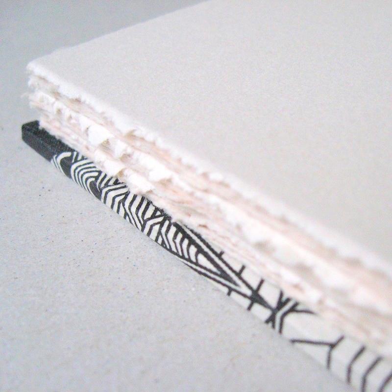 Deckled edges of handmade album