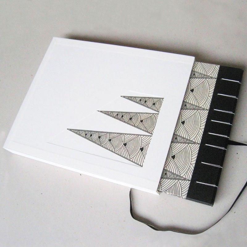 Handmade slipcase for personalised photo album book