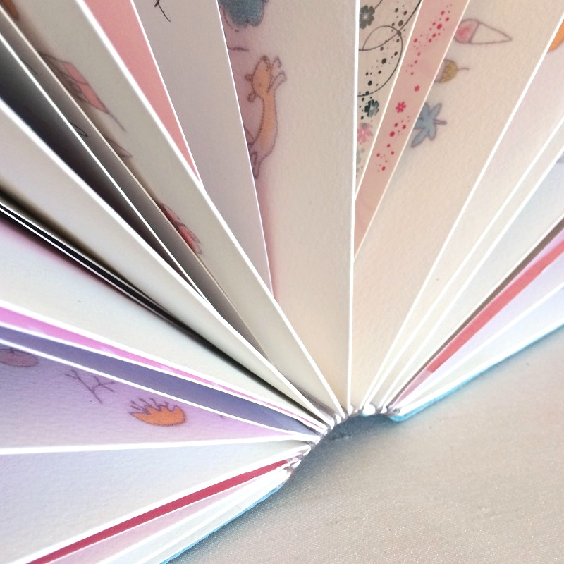 Birthday cards in baby memory book