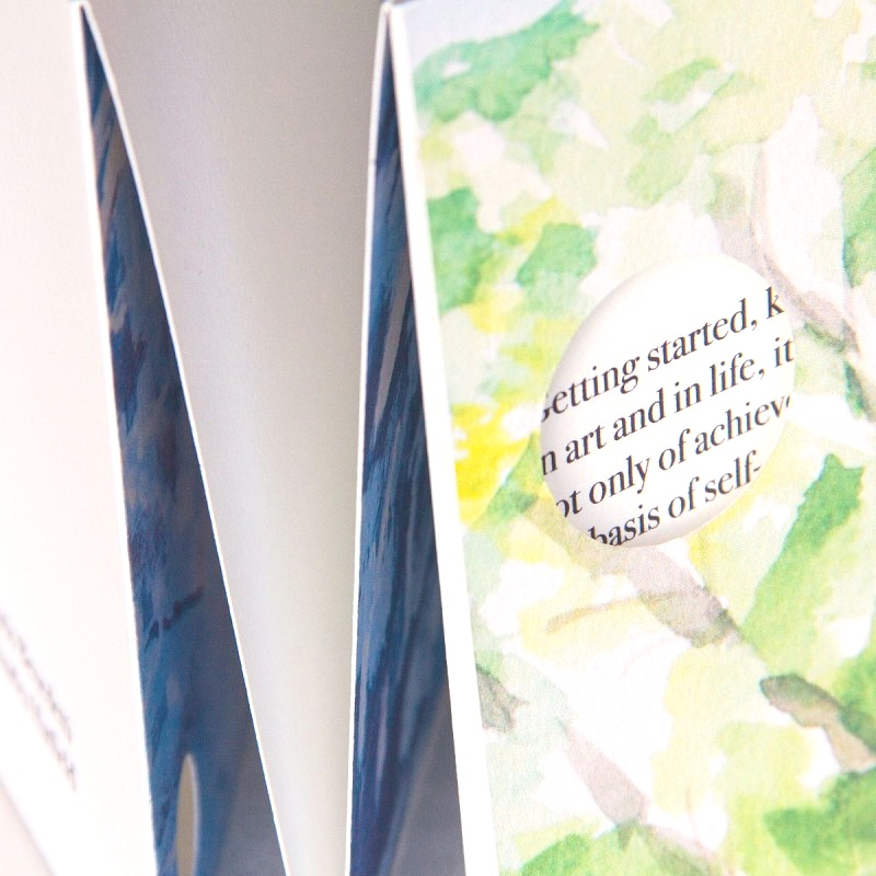 Original painting and poems in retirement memory book
