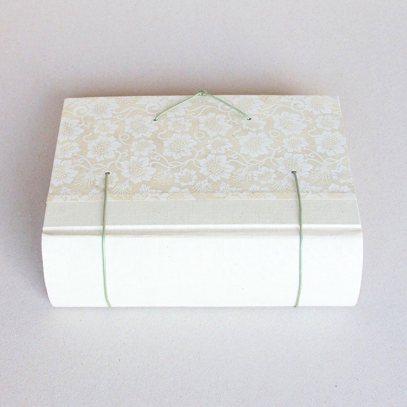Spine of greeting card memory book