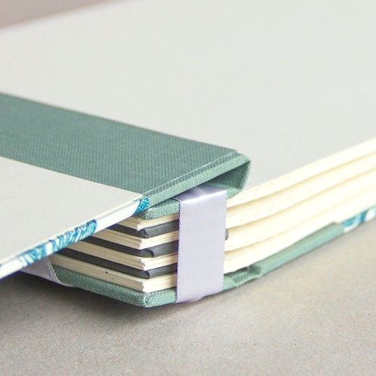 Pages of handmade memory book made in Ireland