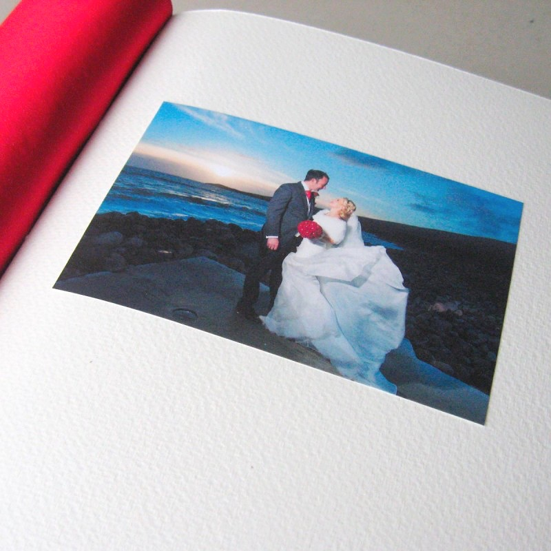Bride and groom photo first page of greeting card organiser book