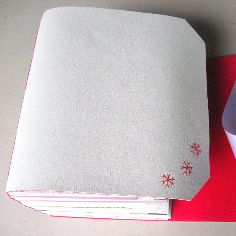 Leather memory book with wedding cards