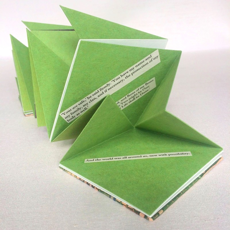 Handmade star book alternative book structures