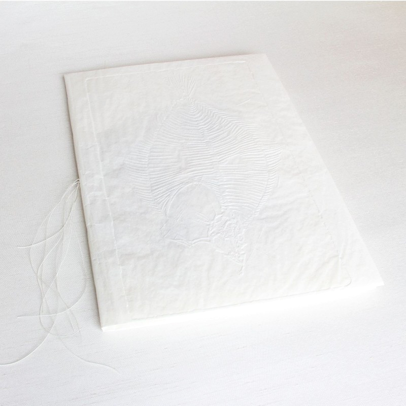 Handmade artist's book with linen paper cover