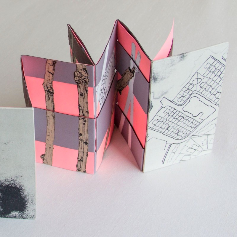 Limited edition artist book with alternative accordion structure
