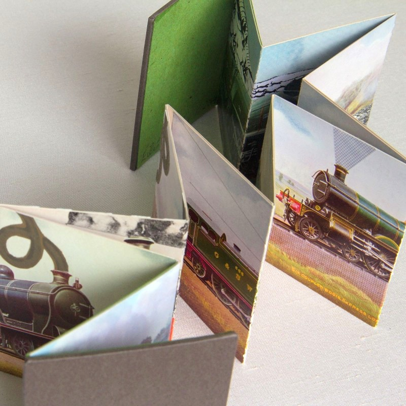 Zigzag pages of handmade artist's book by Eilis Murphy