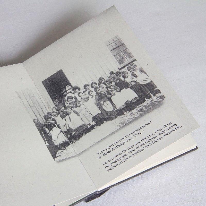 Old photo of school children in unique artist's book