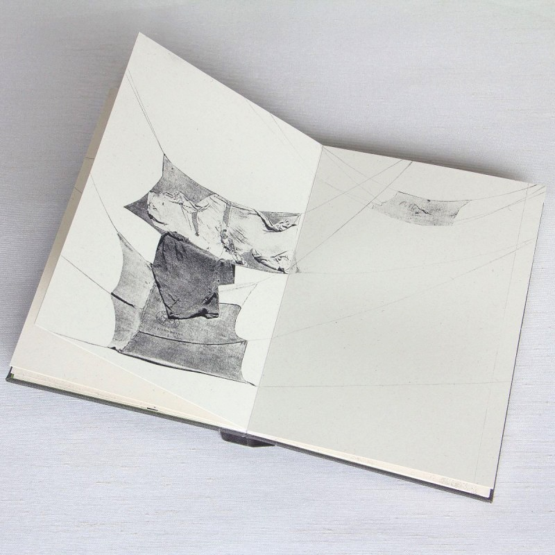 Collage in artist's book by Eilis Murphy