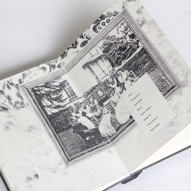 Collage of old painting in artist's book