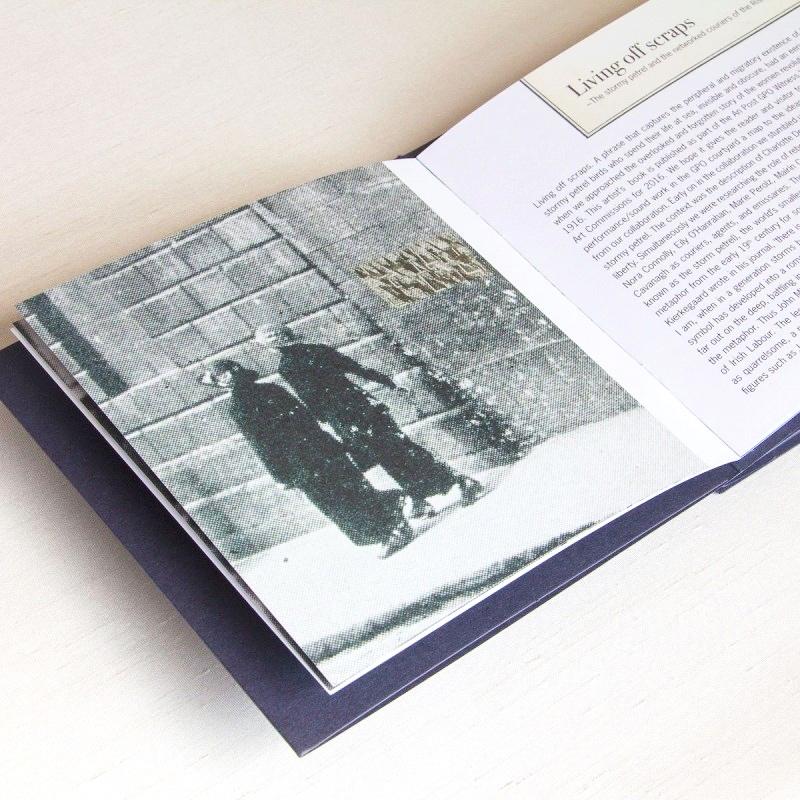 Old photo inside artist's book
