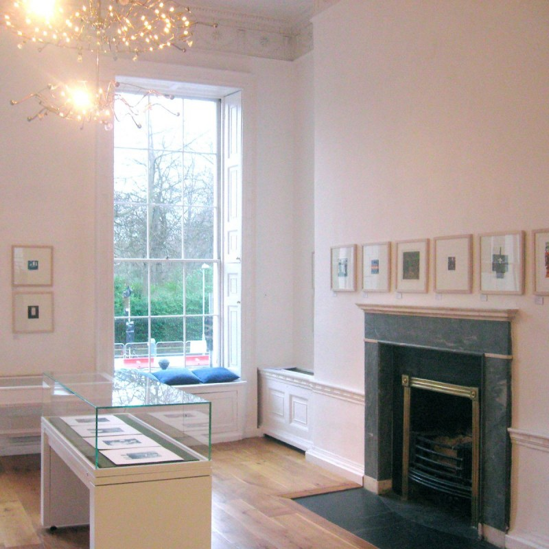 Easter Rising 1916 commemoration exhibition - original prints framed on wall