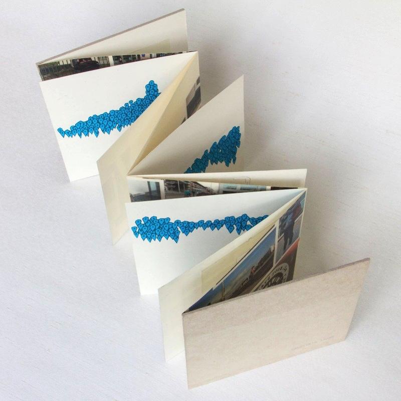 Handmade artist's book NIVAL collection, Dublin Ireland