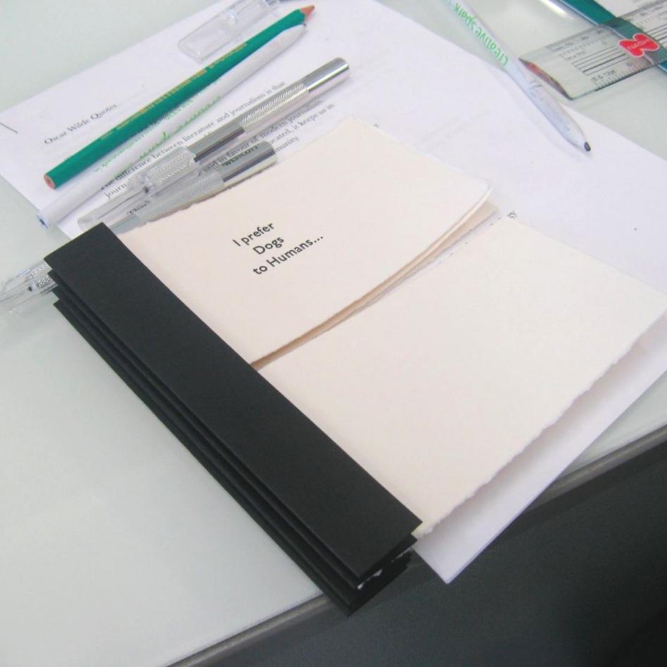 Handmade book with letterpress text Ireland