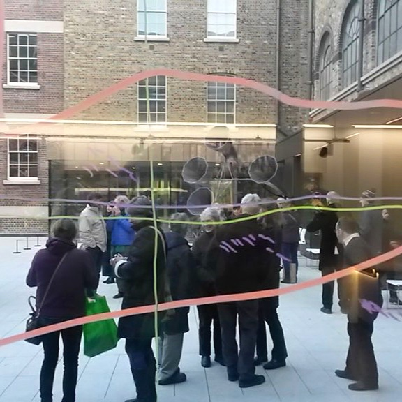 Artist performance forGPO Witness History public art commissions 2016